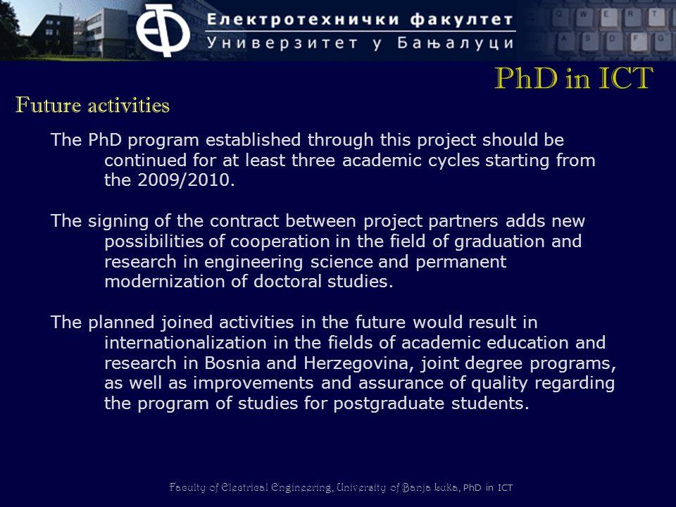 PhD in ICT Future activities