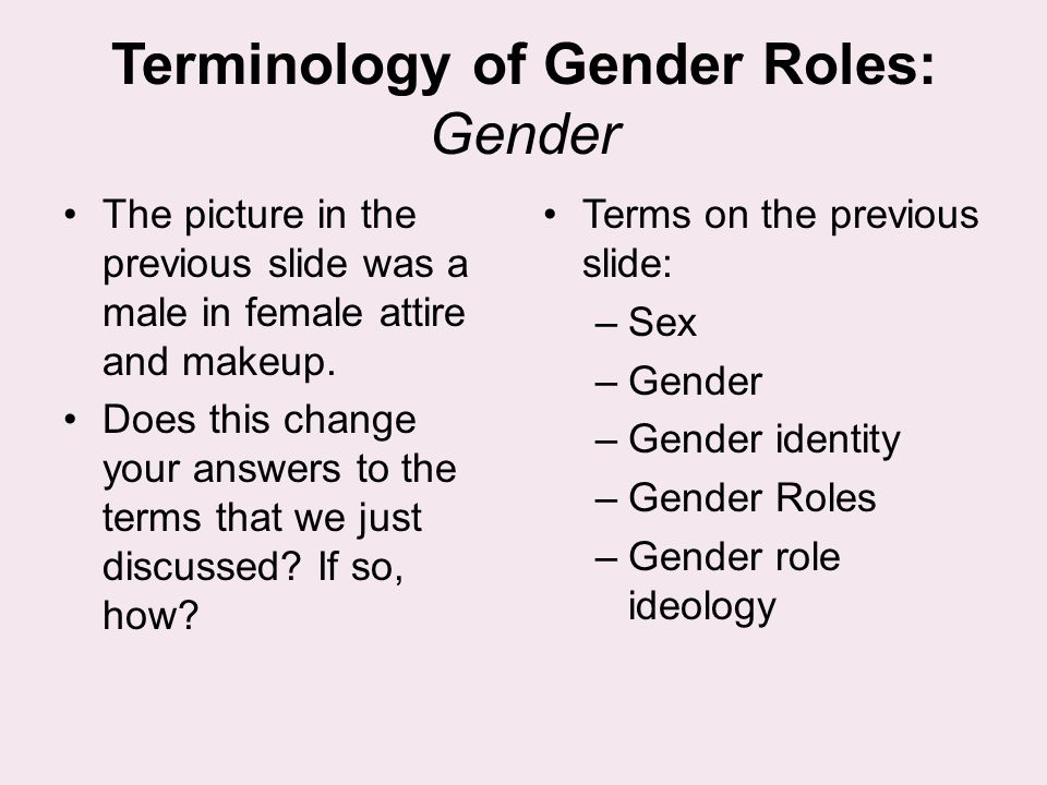 a discussion on gender roles