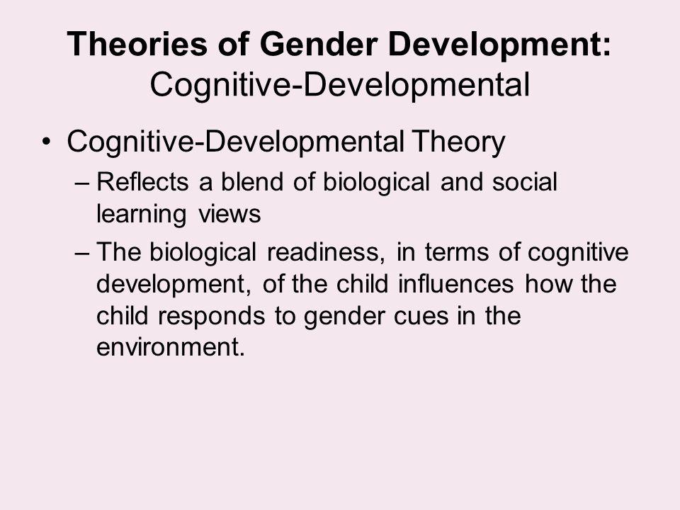 Theories of Gender Development: Cognitive-Developmental