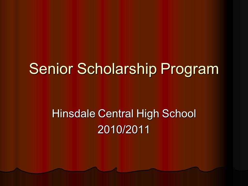 Senior Scholarship Program