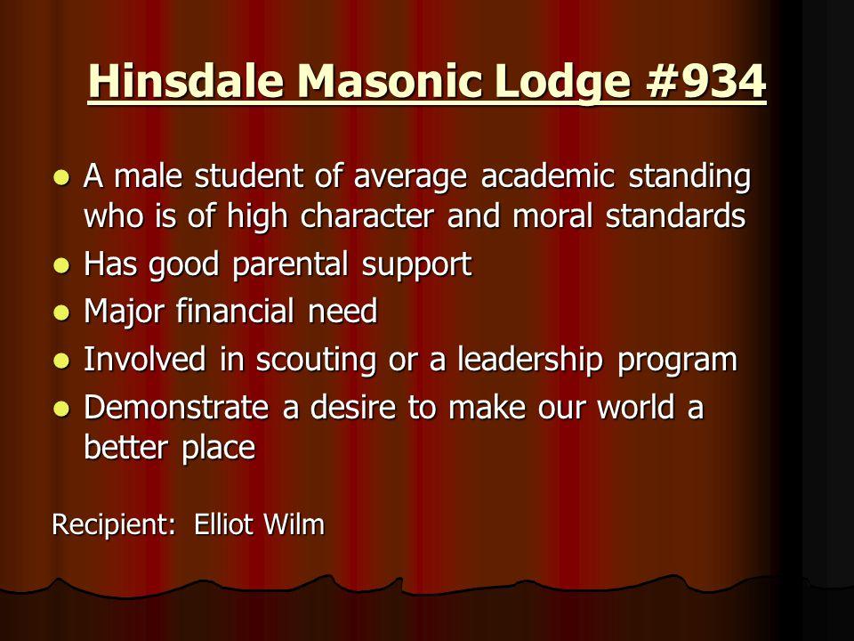 Hinsdale Masonic Lodge #934