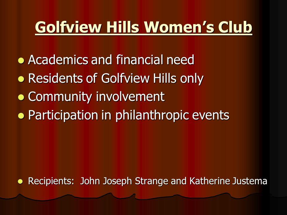 Golfview Hills Women's Club