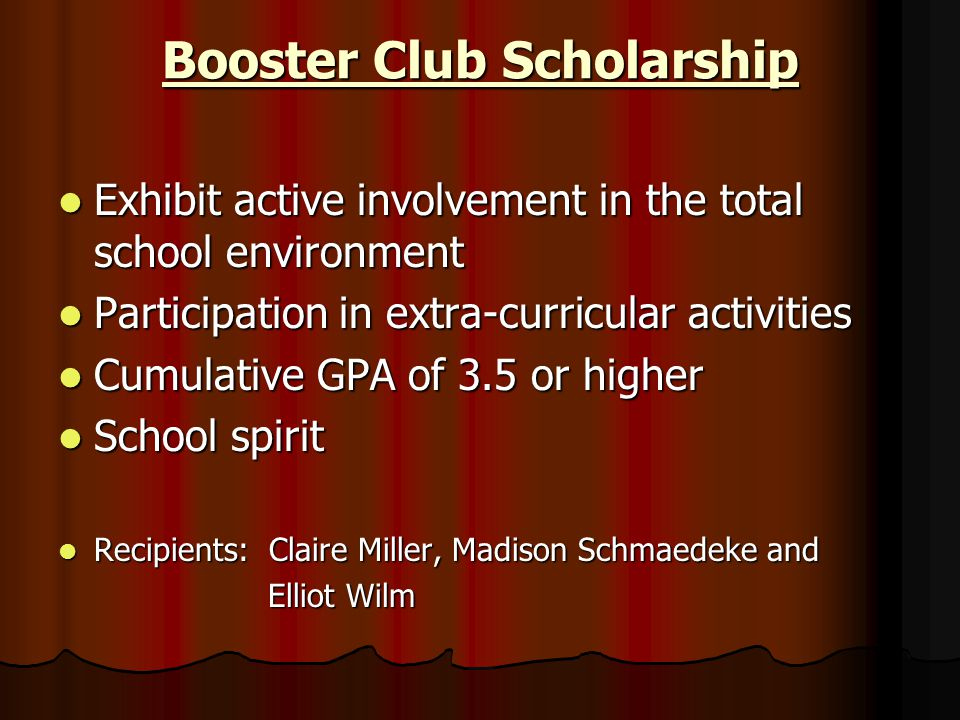 Booster Club Scholarship