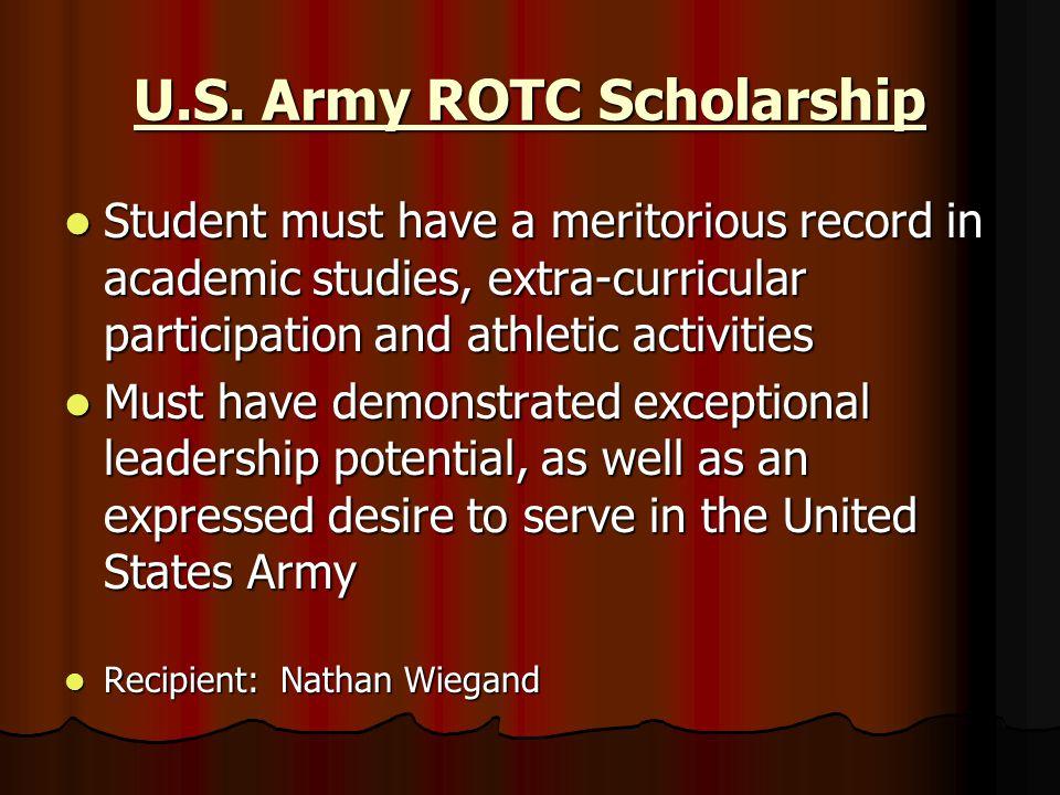 U.S. Army ROTC Scholarship