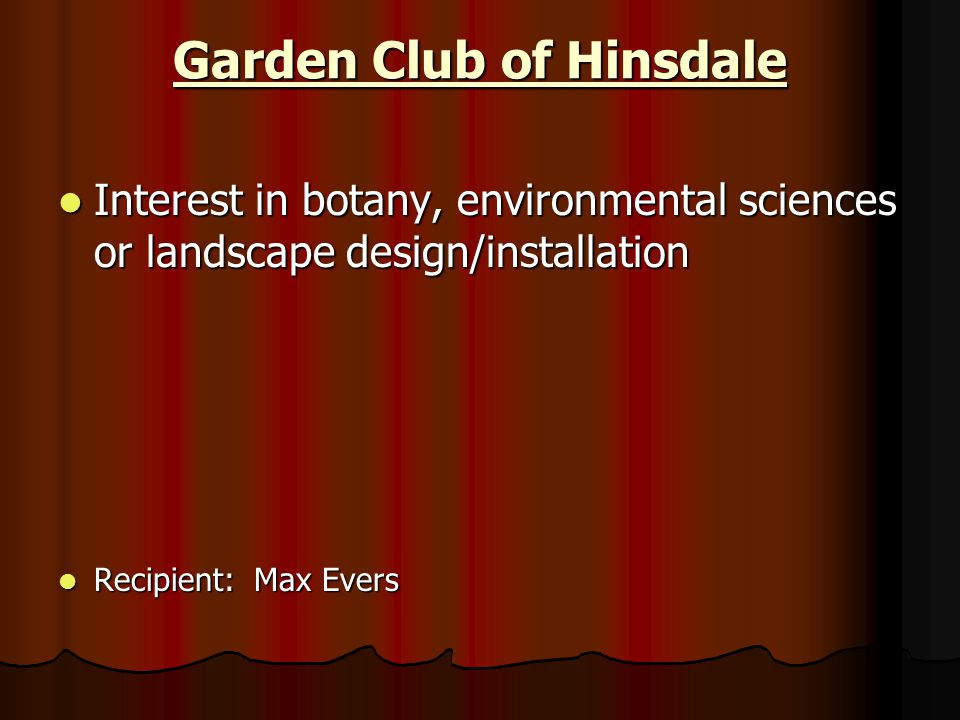Garden Club of Hinsdale