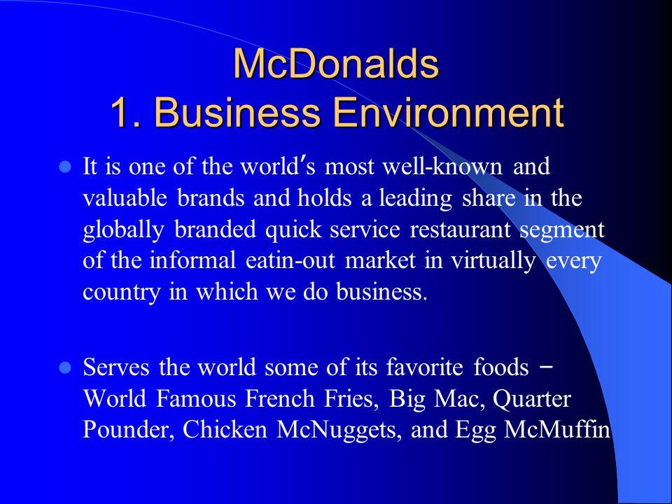 McDonalds 1. Business Environment