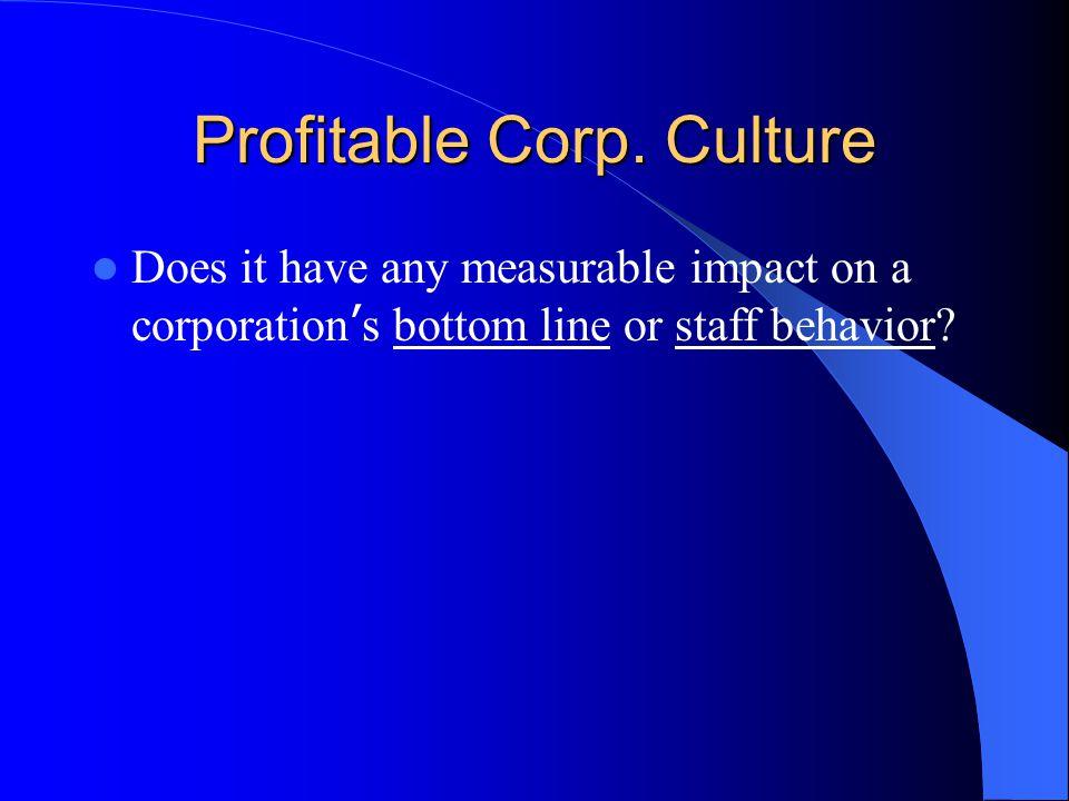 Profitable Corp. Culture