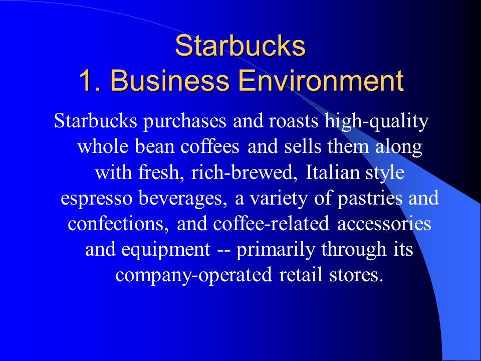 Starbucks 1. Business Environment
