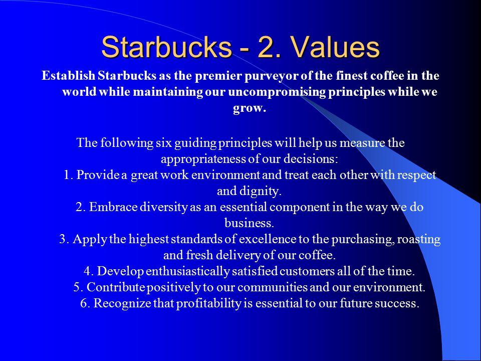 Starbucks - 2. Values