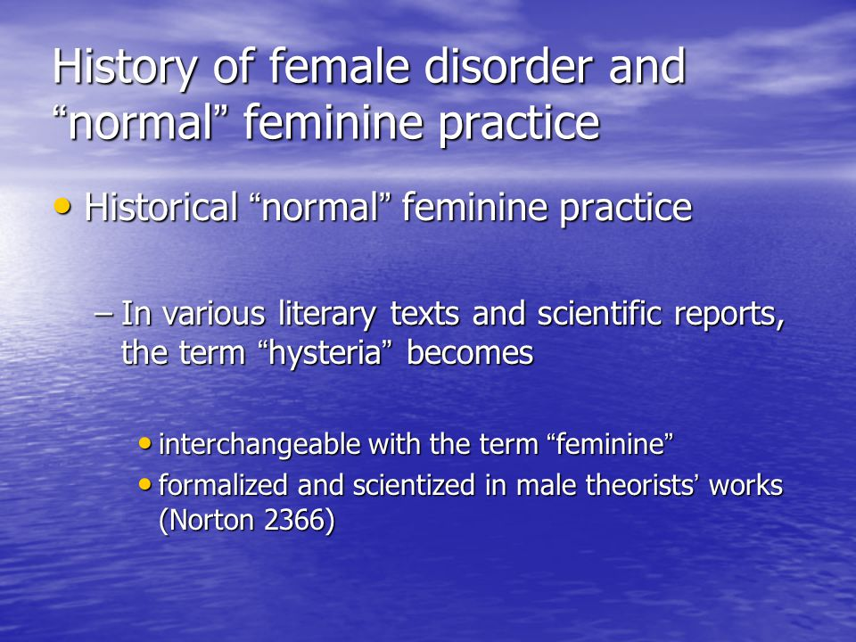 Term paper thesis's on femininity