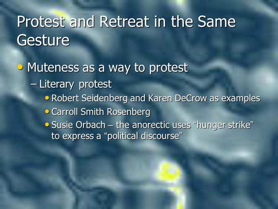 Protest and Retreat in the Same Gesture