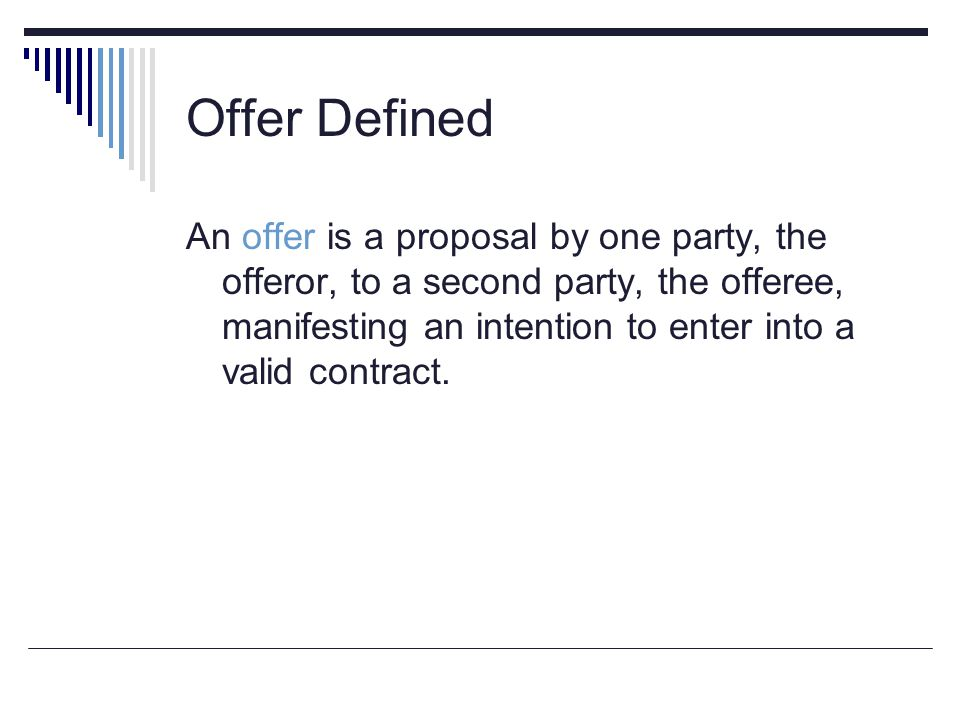 Offer Defined
