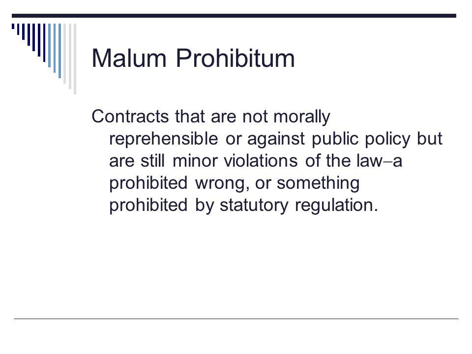Malum Prohibitum
