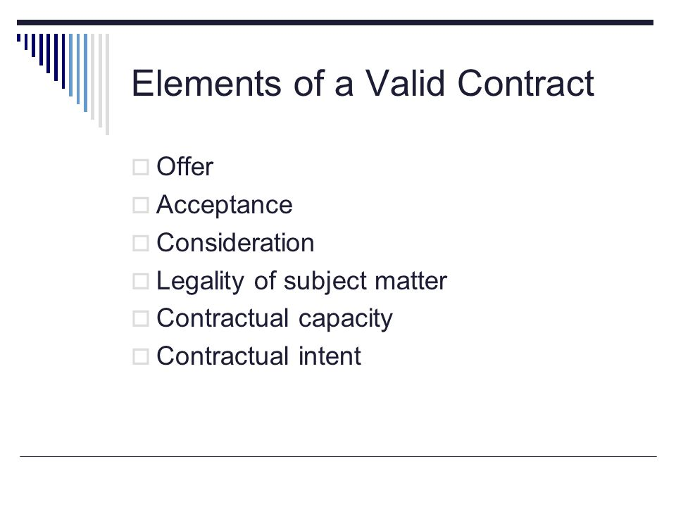 Wonderful Essential Elements Of A Valid Contract