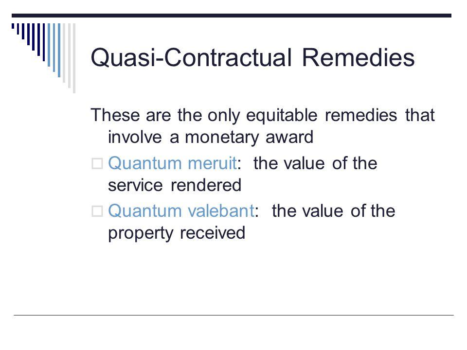 Quasi-Contractual Remedies