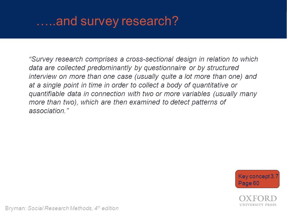 …..and survey research