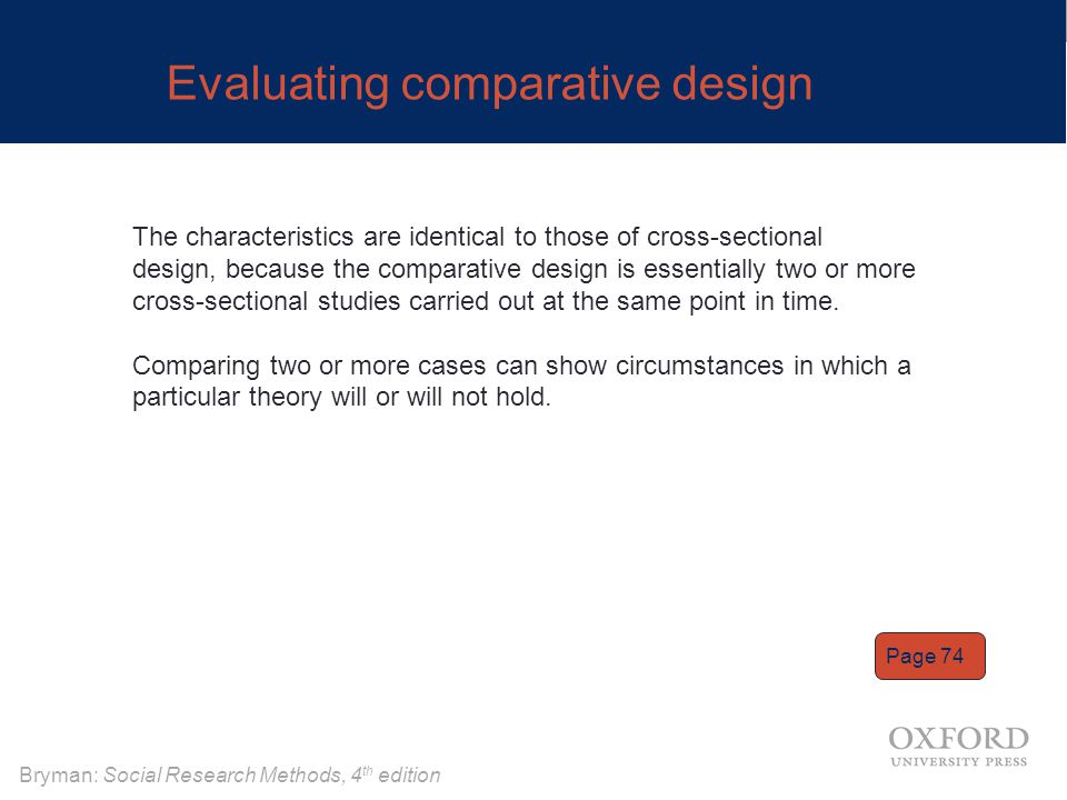 Evaluating comparative design