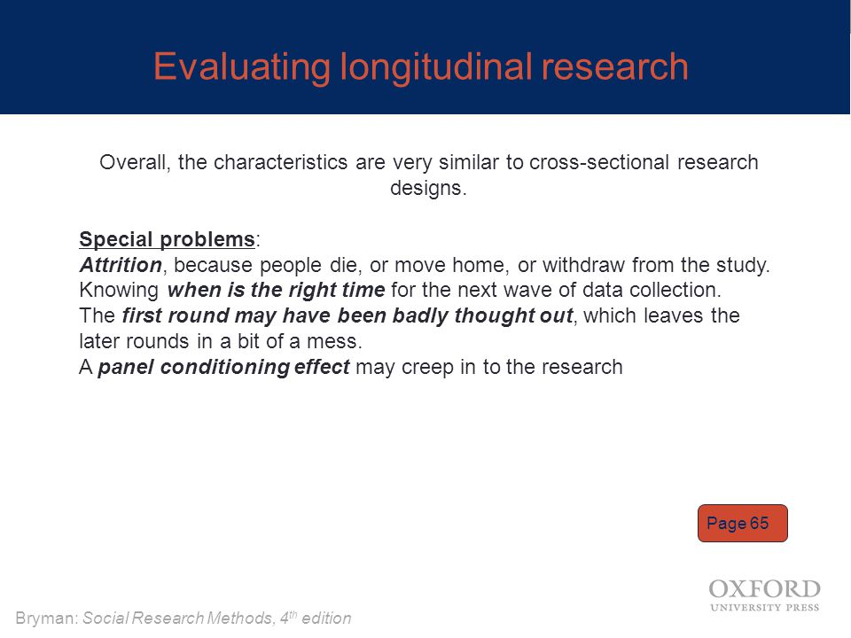 Evaluating longitudinal research