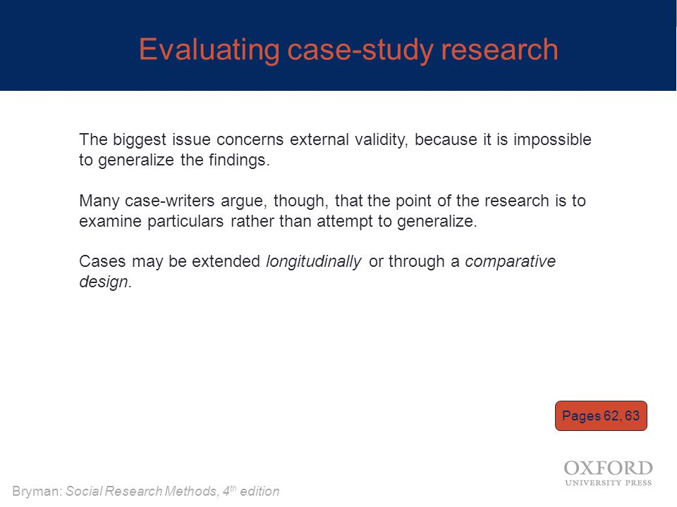 Evaluating case-study research