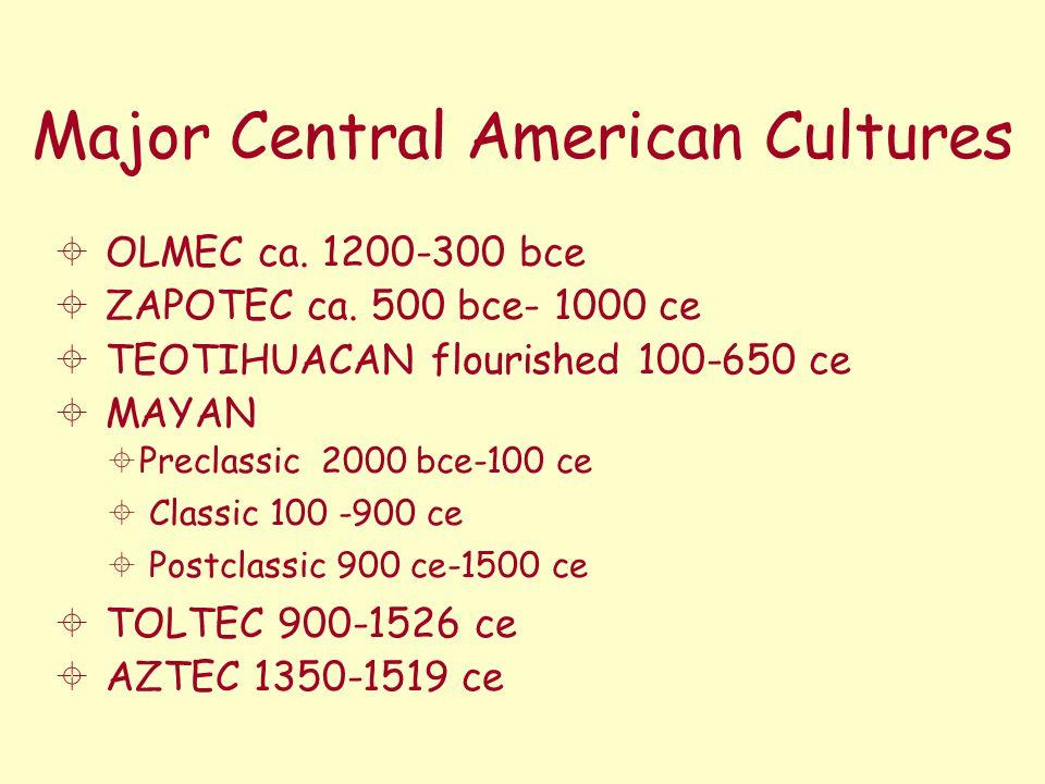 Major Central American Cultures