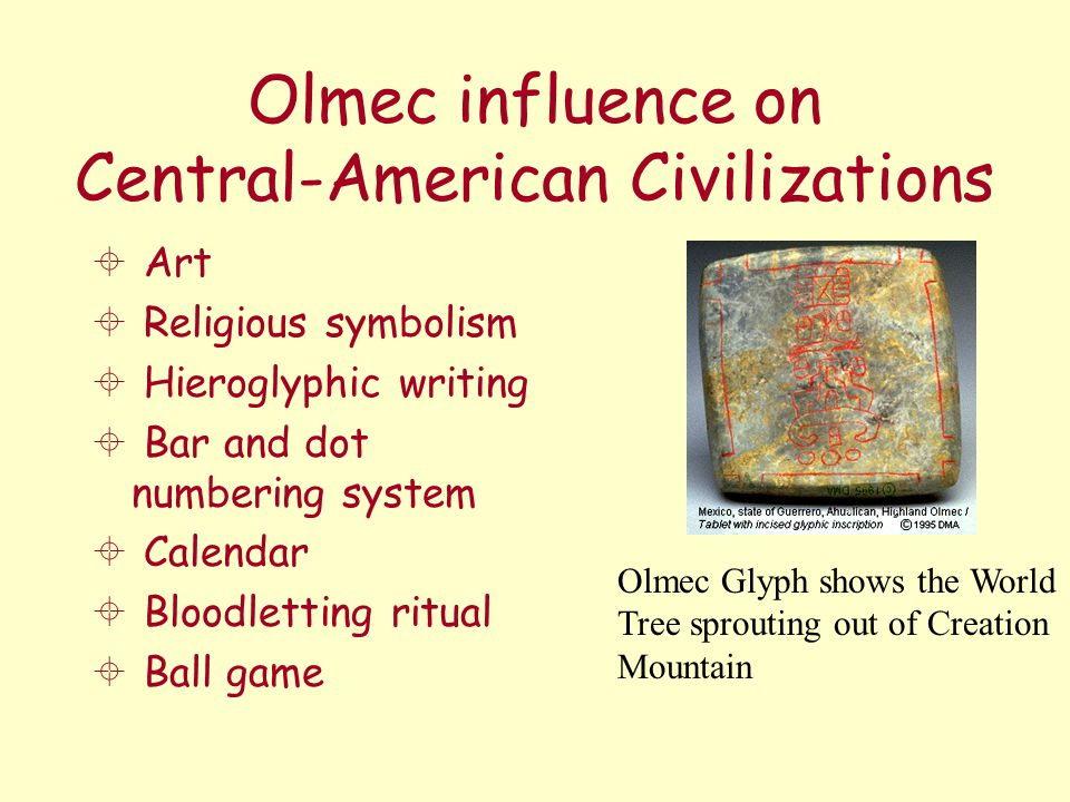 Olmec influence on Central-American Civilizations
