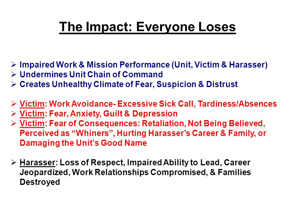 The Impact: Everyone Loses