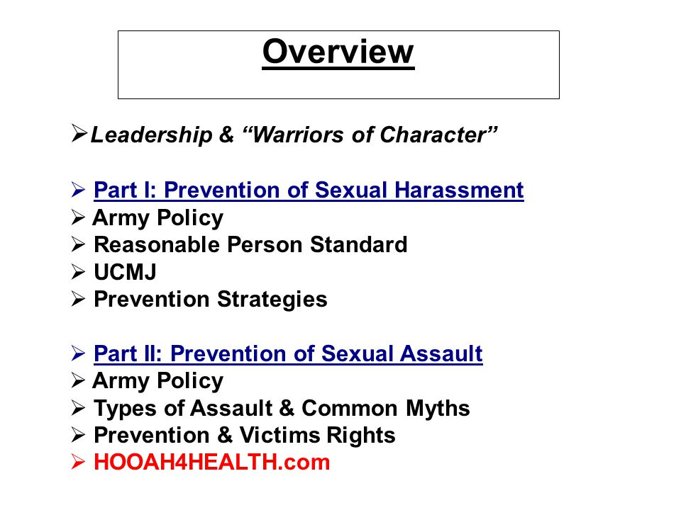 Overview Leadership & Warriors of Character