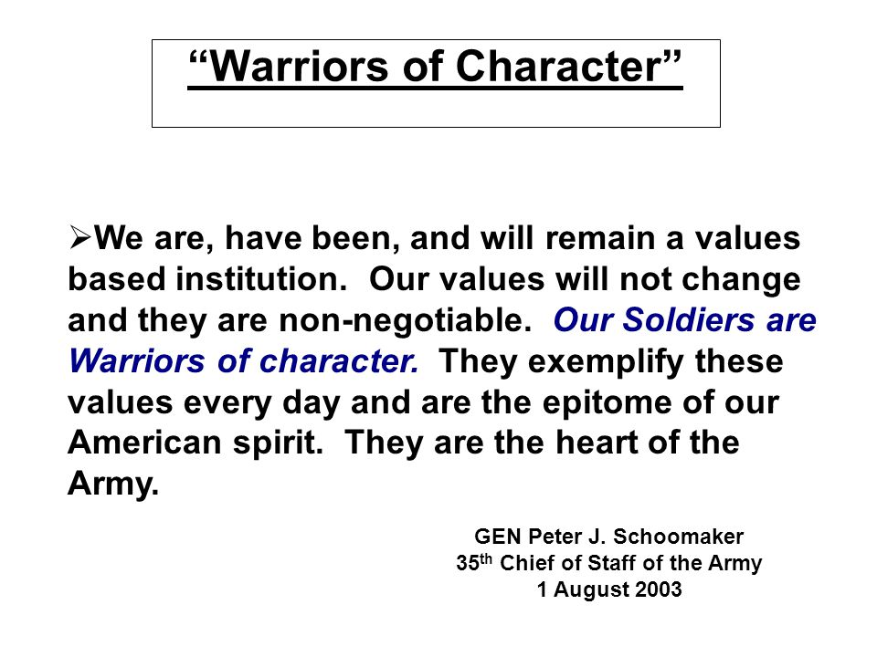 Warriors of Character