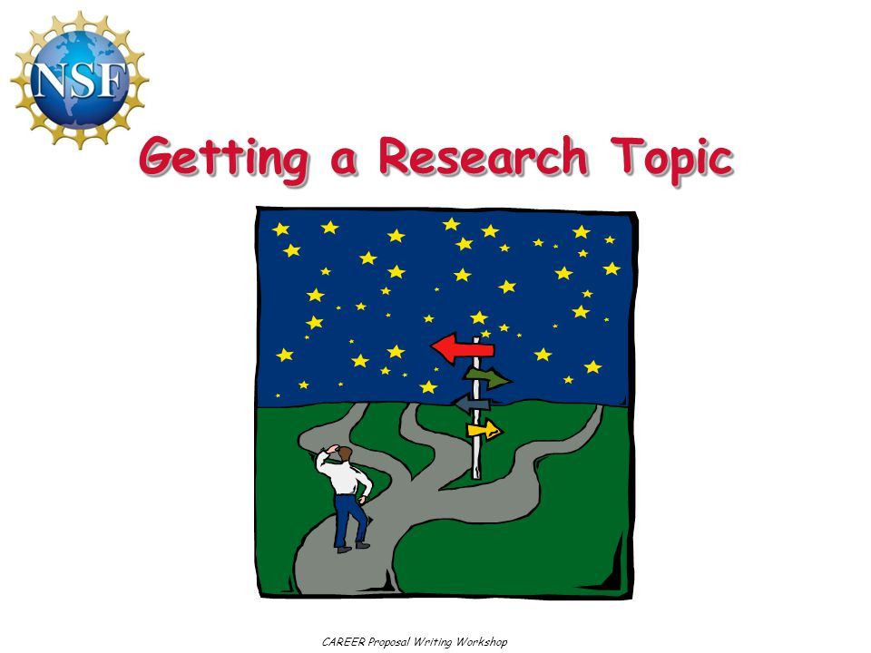 Getting a Research Topic