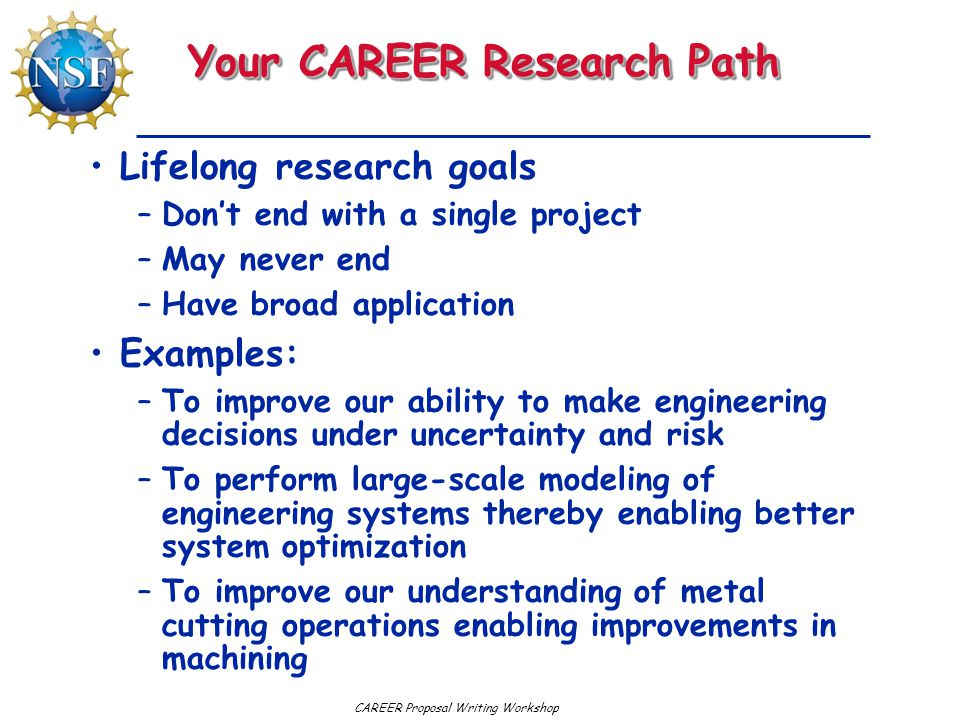Your CAREER Research Path