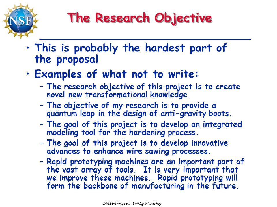 The Research Objective