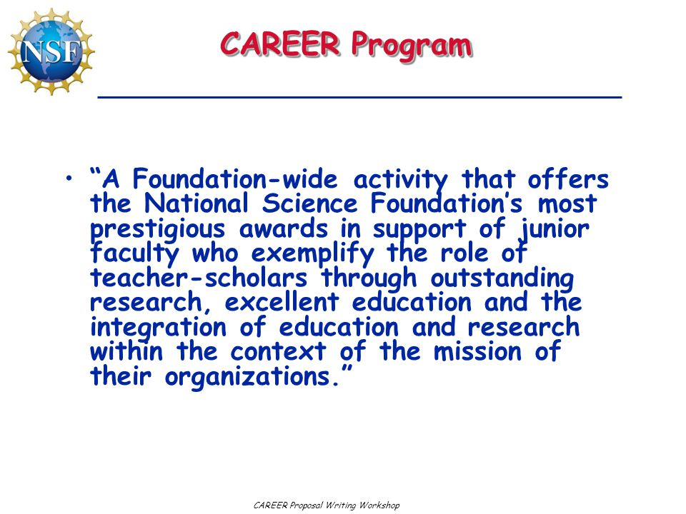 CAREER Program