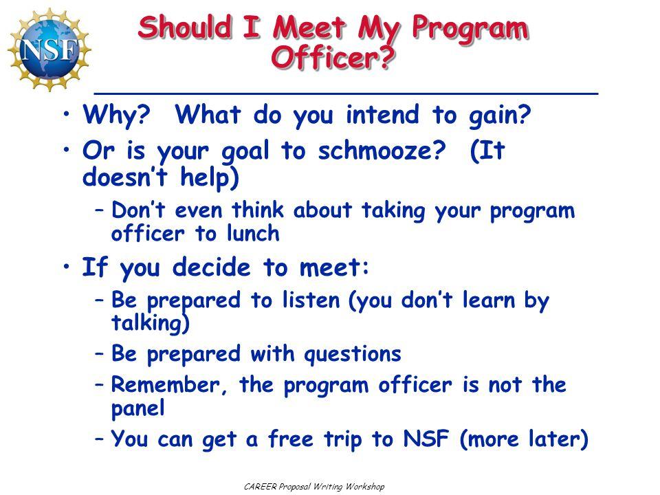 Should I Meet My Program Officer