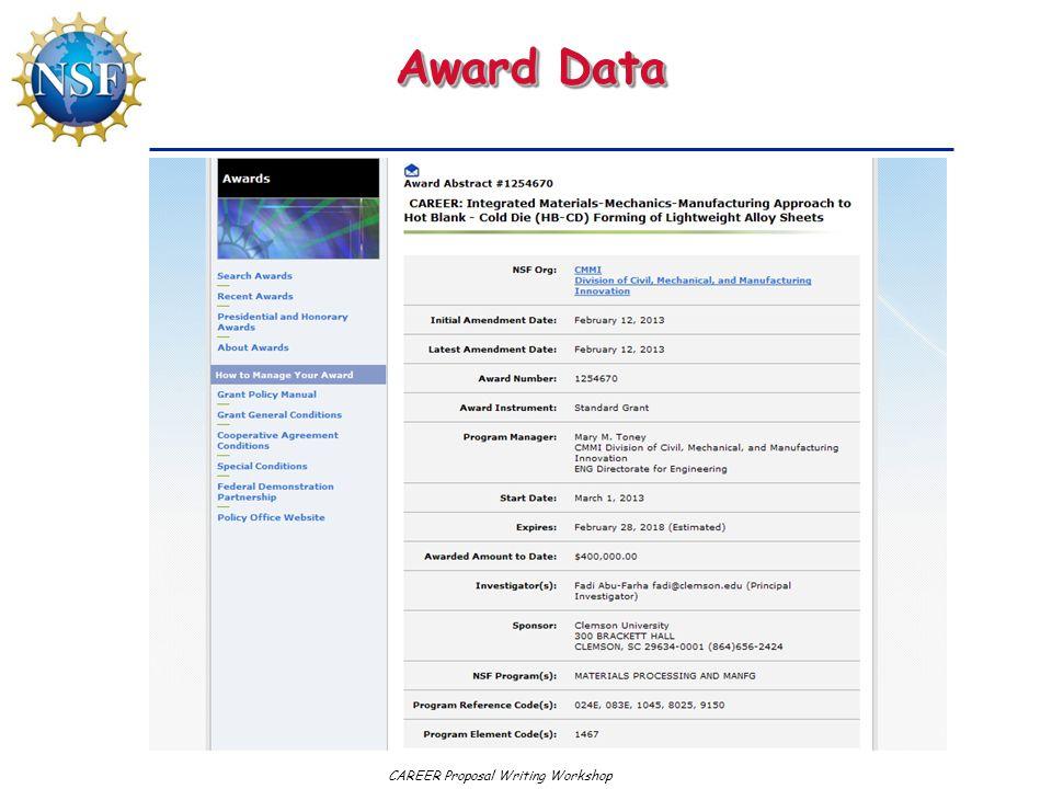 Award Data