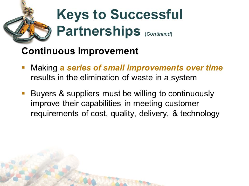 Keys to Successful Partnerships (Continued)
