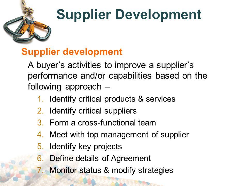 Supplier Development Supplier development