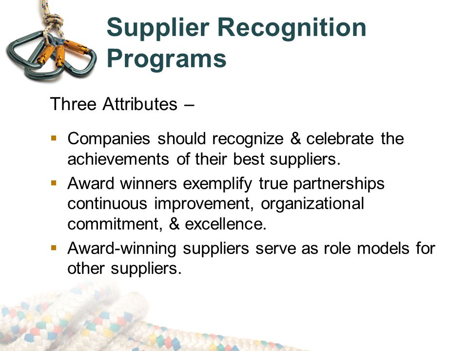 Supplier Recognition Programs