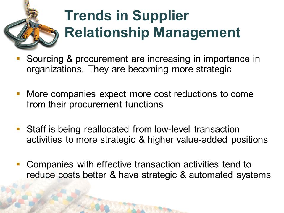 Trends in Supplier Relationship Management