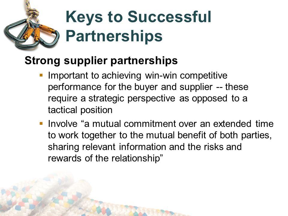 Keys to Successful Partnerships