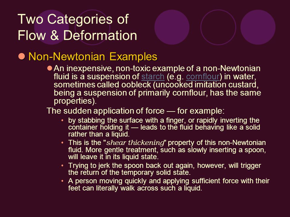 Two Categories of Flow & Deformation