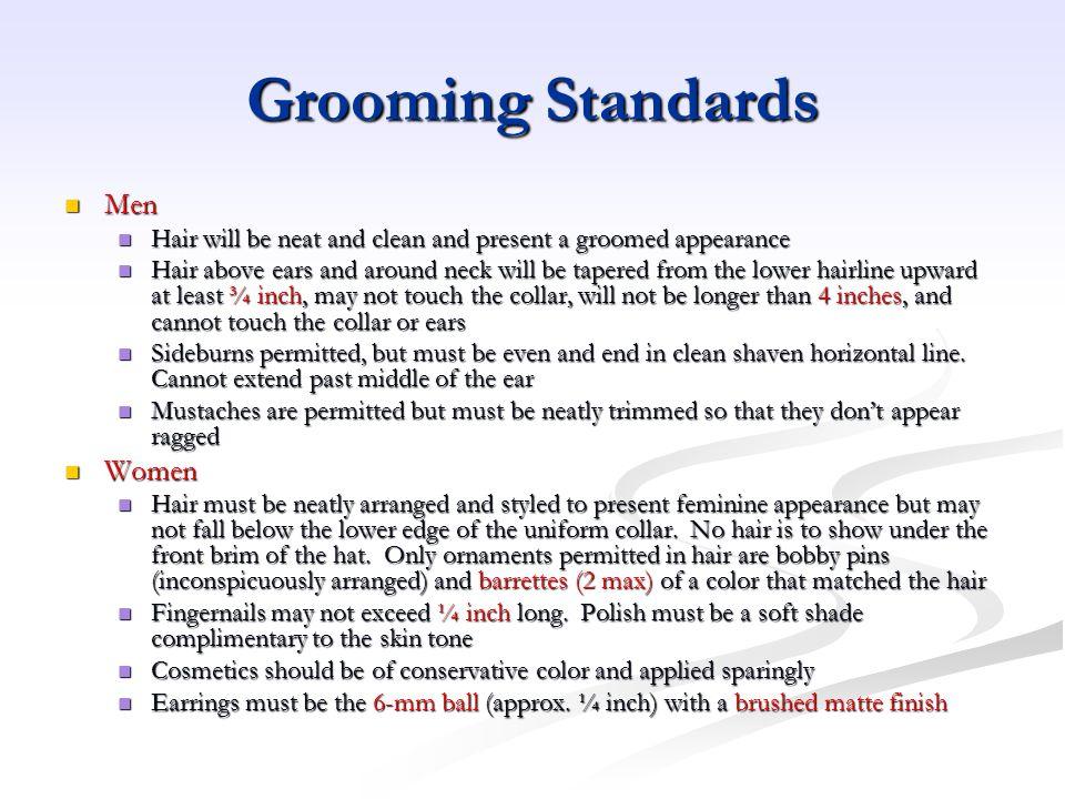 Grooming Standards Men Women