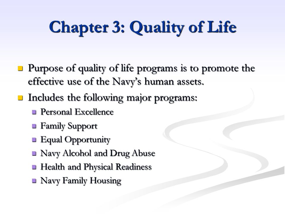 Chapter 3: Quality of Life