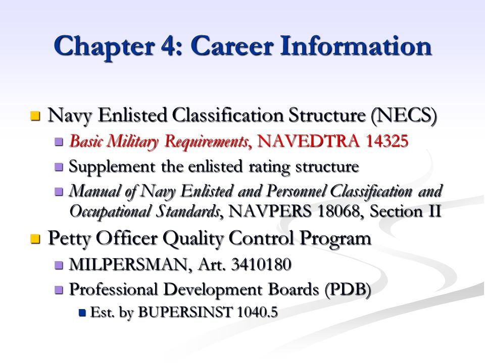 Chapter 4: Career Information