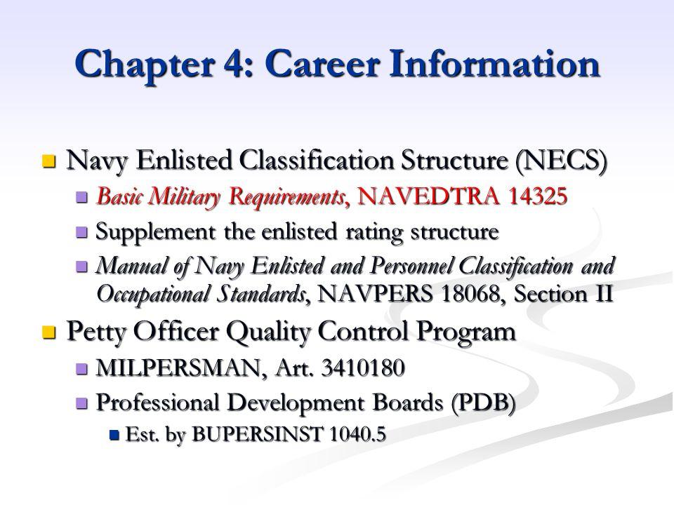 Chapter 4: Career Information