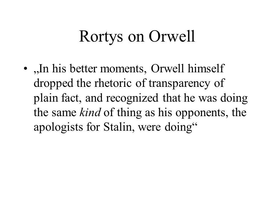 Rortys on Orwell