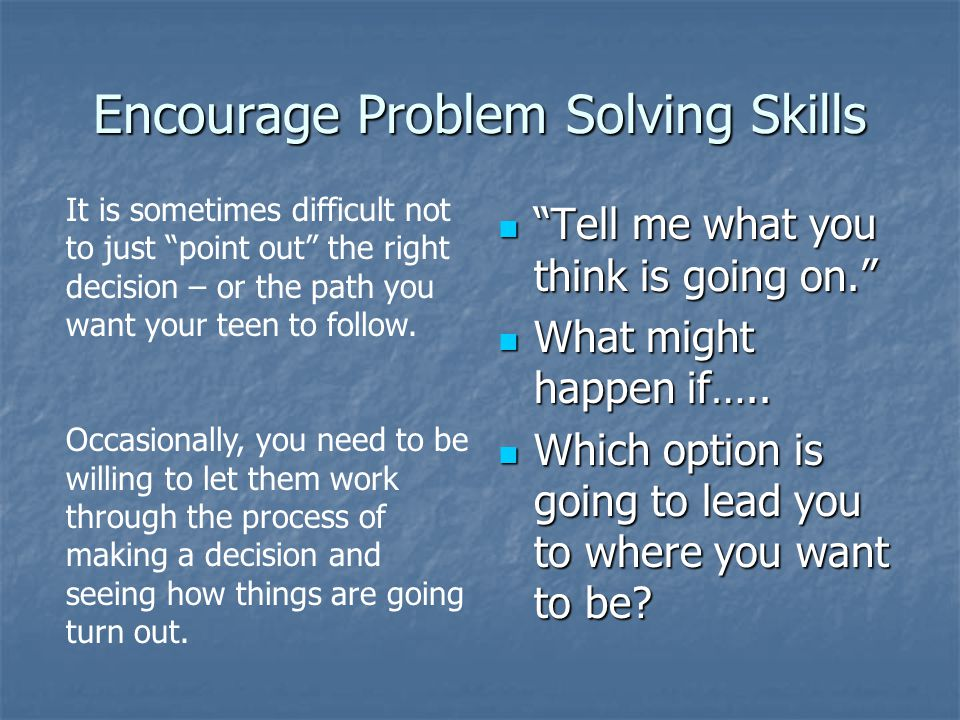 Encourage Problem Solving Skills