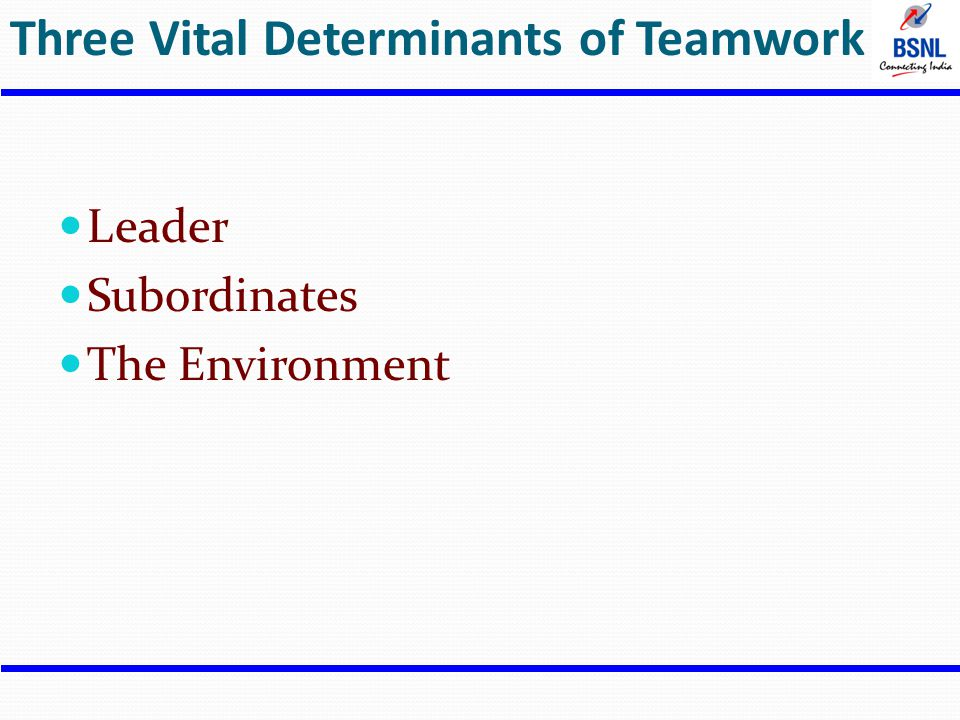 Three Vital Determinants of Teamwork