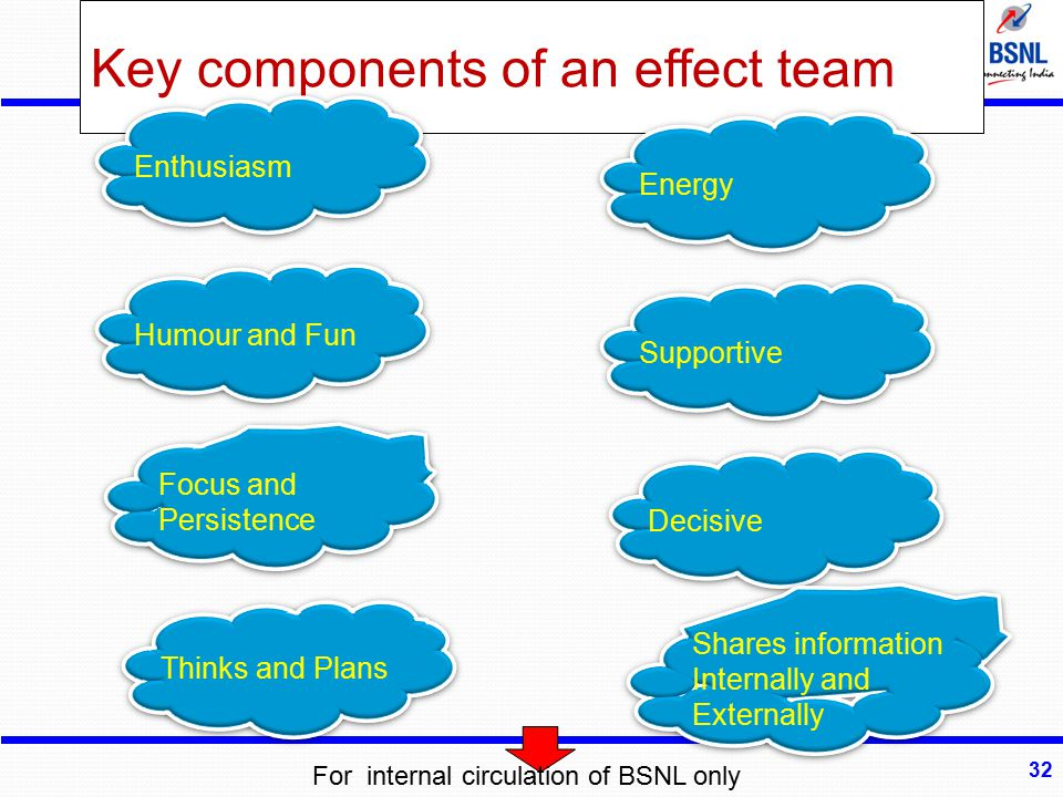 Key components of an effect team