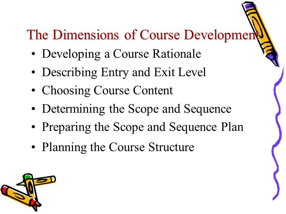 The Dimensions of Course Development