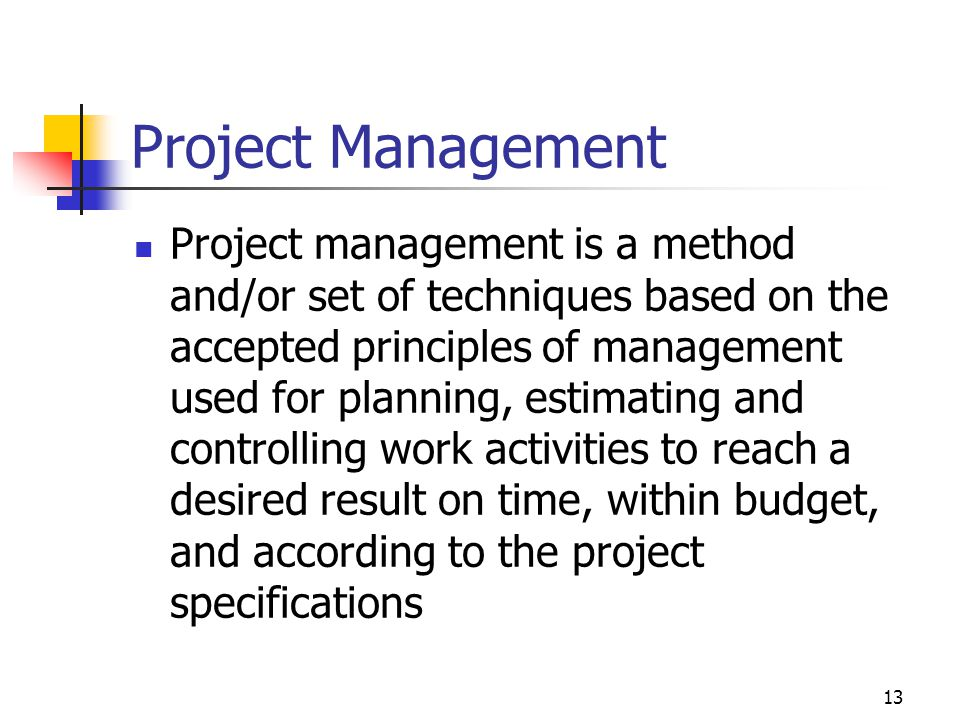 April 2002 Project Management.